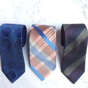 Set of 3 men's ties, various designers